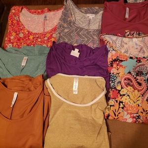 8 Lularoe Shirts Tops Irma 3xl